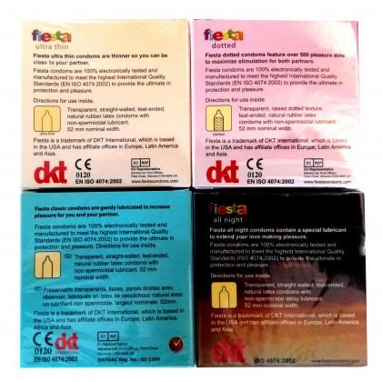 Fiesta Condom Basic Set 3pcs x 4pkt