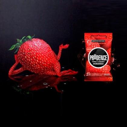 Prudence Fire Hot 3's & Strawberry 3's Condom