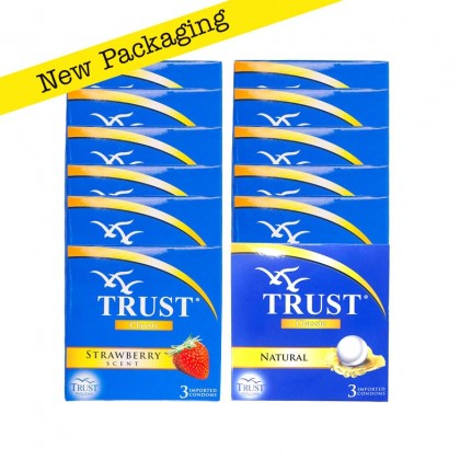 Trust Classic 5pkt + Strawberry Scented 5pkt Condom 30pcs