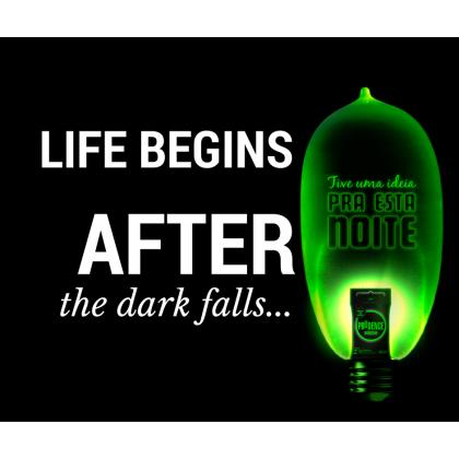 Prudence Neon Glow in the Dark Condom 3pcs