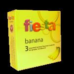Fiesta Banana Flavour Ribbed Condom 3pcs