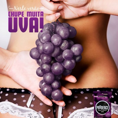 Sample Prudence Grapes Flavour condom 3's