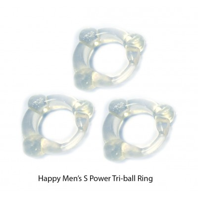 Happy Men's O-Ring Stay Hard Delay Ring 3pcs