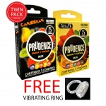 Prudence Mix Twin Pack 10pcs + Free Vibrating Ring 1 pc