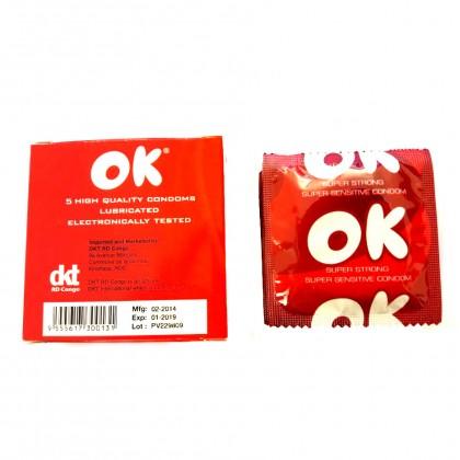 OK Condom- Five Super Strong Condom 5pcs pack