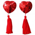 Sequin Nipple Cover Red 1pair + Free Condom Samples