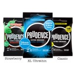 Prudence Mix 3 XL Pack ( Regular ,Strawberry Flavour & Ultrathin ) 3's x 3pkt
