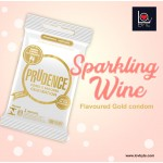 Prudence Celebration - Gold Sparkling Wine Flavour Condom