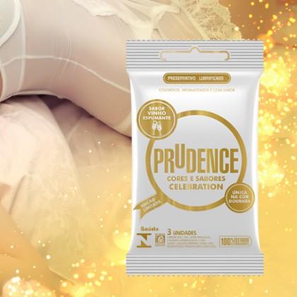 Prudence Celebration - Gold Sparkling Wine Flavour Condom