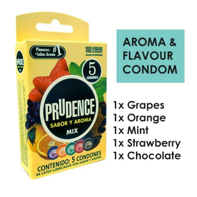 Prudence Mix Aroma Caribbean Flavours Condom 5s